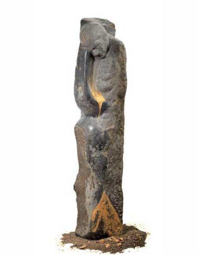 verrinnende Zeit Basalt Deutschl 137x34x30cm